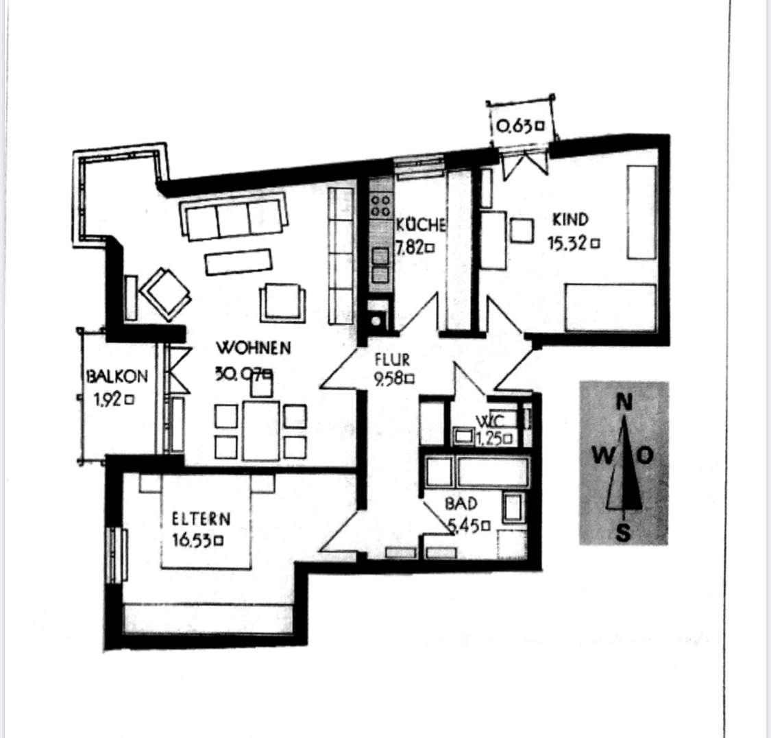 Gepflegte 3-Zimmer-Wohnung mit Balkon in Augsburg in Kriegshaber (Augsburg)