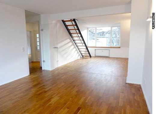 Wunderschöne, top ausgestattete 3-Zi-Maisonette-Wohnung mit EBK & Balkon in unmittelbarer Rheinnähe!