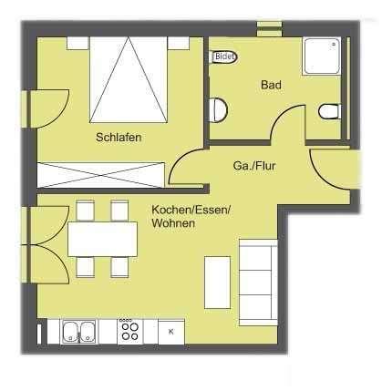 Zu vermieten: 2-Zimmer-Neubau-Wohnung in Abensberg in Abensberg