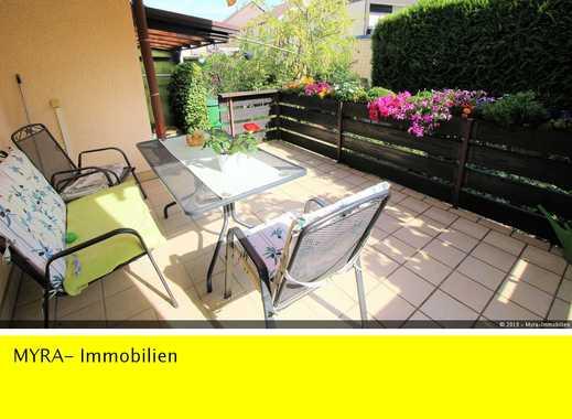 **Ruhig gelegene 3-Zimmer-Wohnung 91 m²,  im EG mit Terrasse, EBK, TGL-Bad  und Garage**