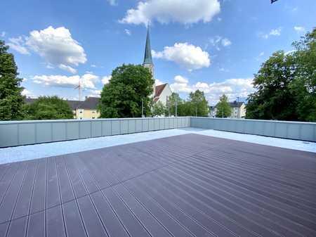 Riesige Dachterrasse mit Ausblick mitten im Zentrum in Freilassing