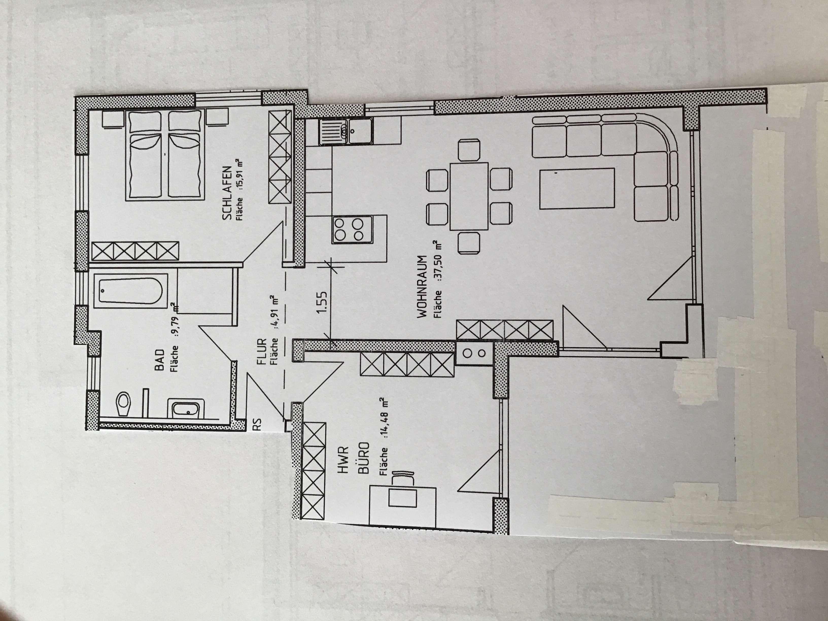 Schöne, geräumige und moderne drei Zimmer Wohnung in Memmingen, Amendingen in