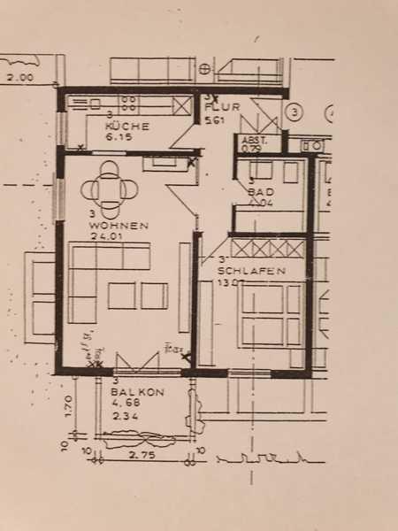 Vollständig renovierte Wohnung mit zwei Zimmern sowie Balkon und EBK in Coburg in Cortendorf (Coburg)