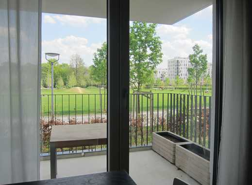 Stilvolle, neuwertige 2-Zimmer-EG-Wohnung mit Balkon und Einbauküche in Obergiesing, München