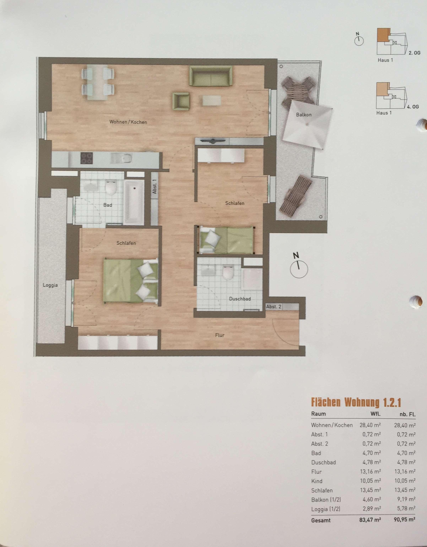 Schöne 3-Zimmer-Wohnung mit Balkon in Schwabing, München in Schwabing (München)