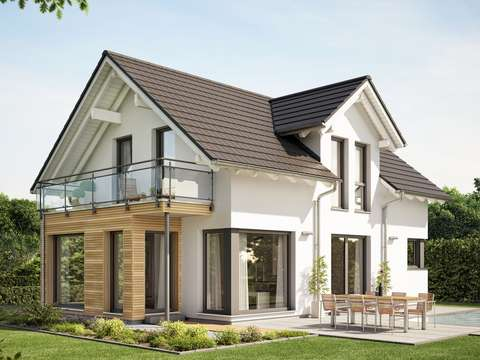 Evolution 122 V10 Modernes Traumhaus Mit Satteldach Zwerchgiebel