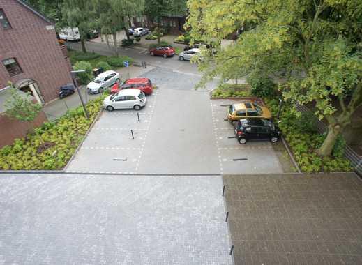 Pkw-Außenstellplatz mit abschließbarem Poller