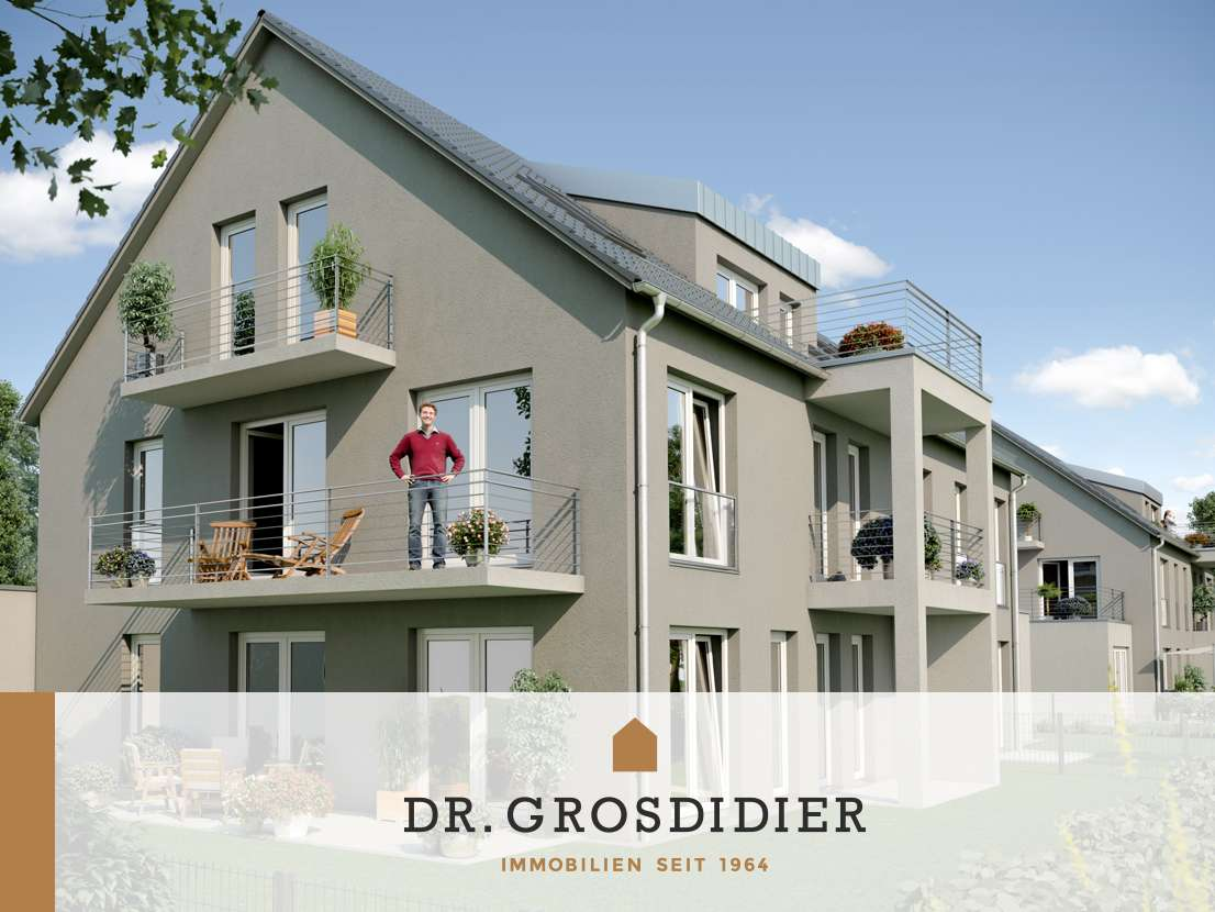Dr. Grosdidier: Coole 2-Zi.-DG-Whg. mit Balkon! Neubau! Erstbezug! in