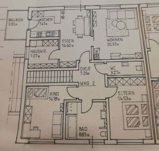 Neuwertige 5-Zimmer-Wohnung mit Balkon und EBK in Oberschneiding in