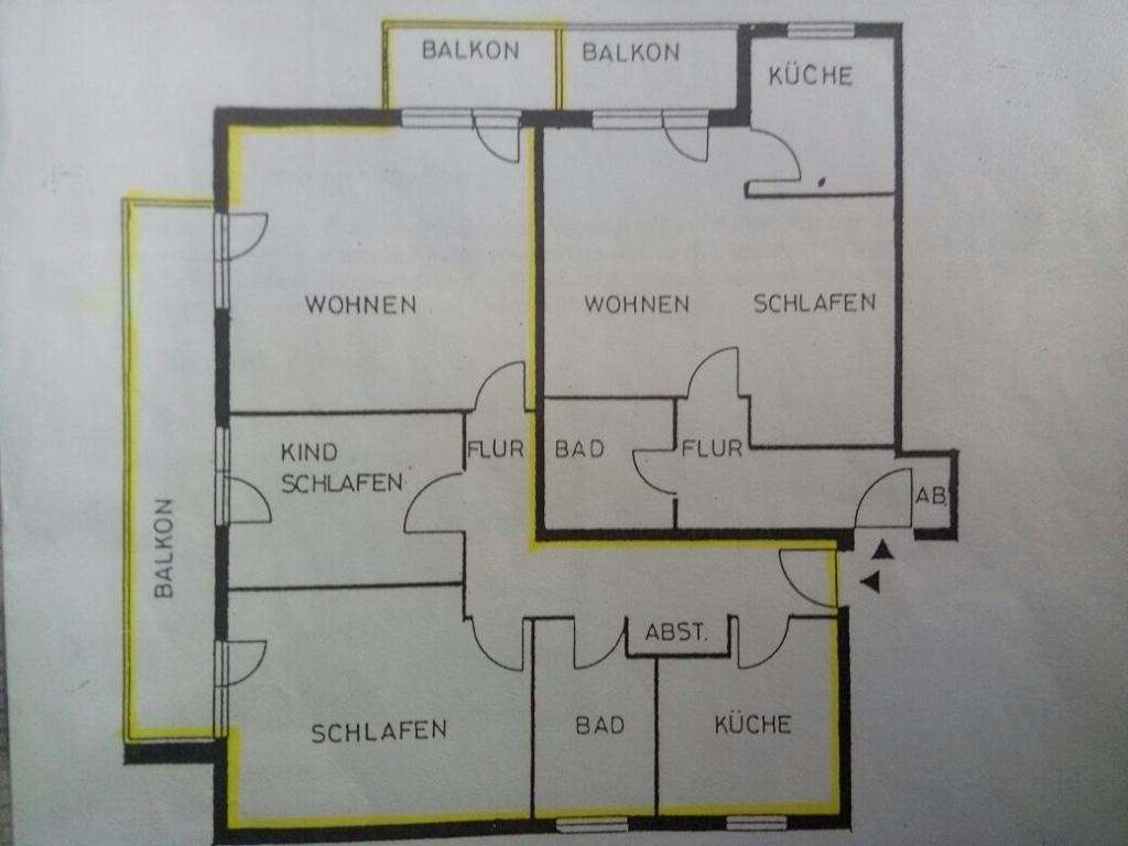 3-Zimmer-Wohnung mit Balkon und Einbauküche in Mainaschaff
