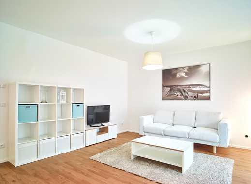 Lövenich: Exklusive, vollmöblierte helle 3-Zi. SO-Gartenwohnung mit Einbauküche und 2 Stellplätzen