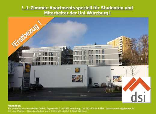 ! 1-Zimmer-Apartments speziell für Studenten oder Mitarbeiter der Uni-Würzburg !