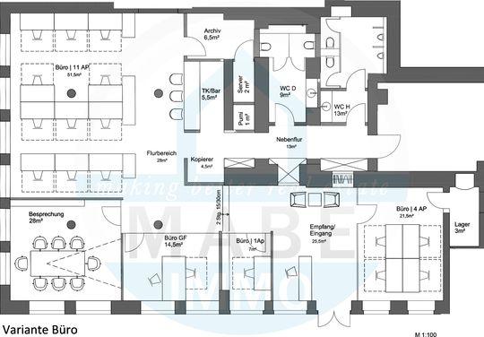 Grundriss Variante Büro