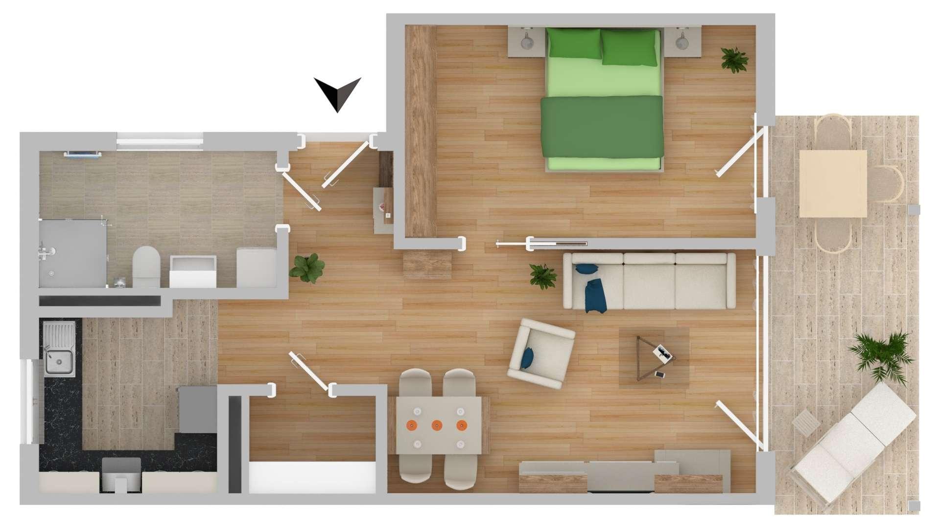 NEUBAU!!!! Betreutes Wohnen 2-Zimmer mit Balkon (D24)