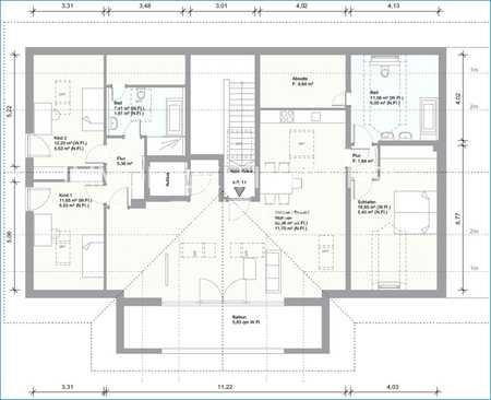 Schneiderhof - Moderne 4-Zimmer Dachgeschoßwohnung in Taufkirchen - Neubau bezugsfertig 1.09.2020 in Taufkirchen (München)