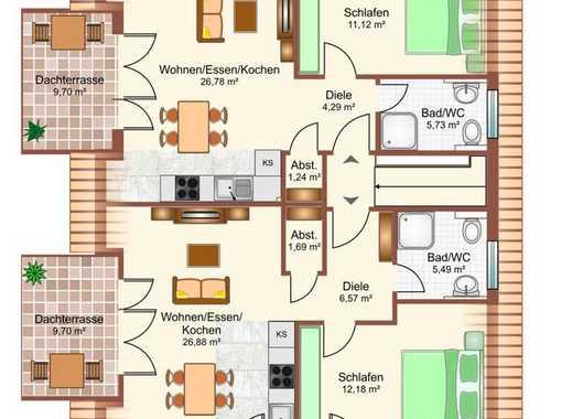 Neubauprojekt! Nachhaltige Kapitalanlage bestehend aus 2 Dachgeschosswohnungen!