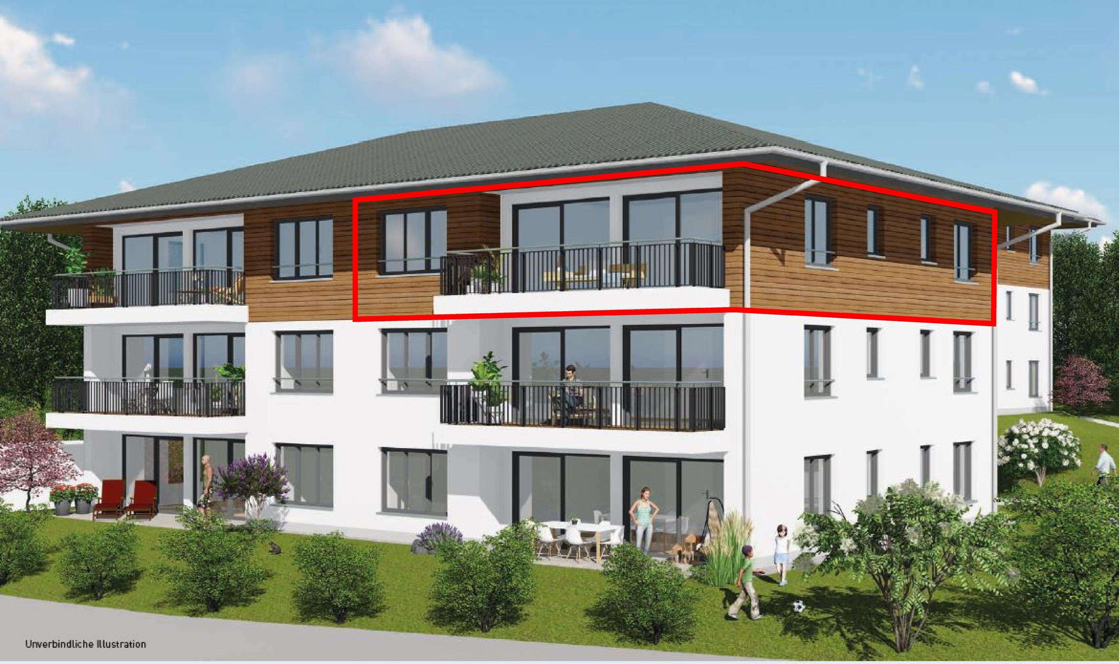 Traum- Neubauwohnung mit unverbaubarem Bergblick in Haldenwang in Haldenwang (Oberallgäu)