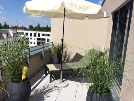 Sonnige Dachterrassenwohnung in Mü-Pasing mit freier Sicht bis zum Horizont in Obermenzing (München)