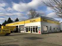 KFZ-Werkstatt an stark frequentierter Straße