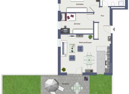 Erstbezug: gehobene 3-Zimmer-Terrassenwohnung in Winterhausen