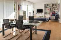 Helle moderne Wohnung mit Garten