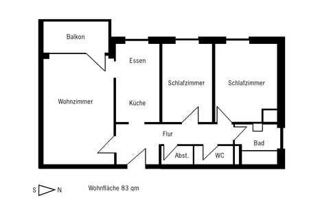 Ruhige und sonnige 3-Zimmer-Wohnung mit Balkon in Altenerding/Erding in Erding