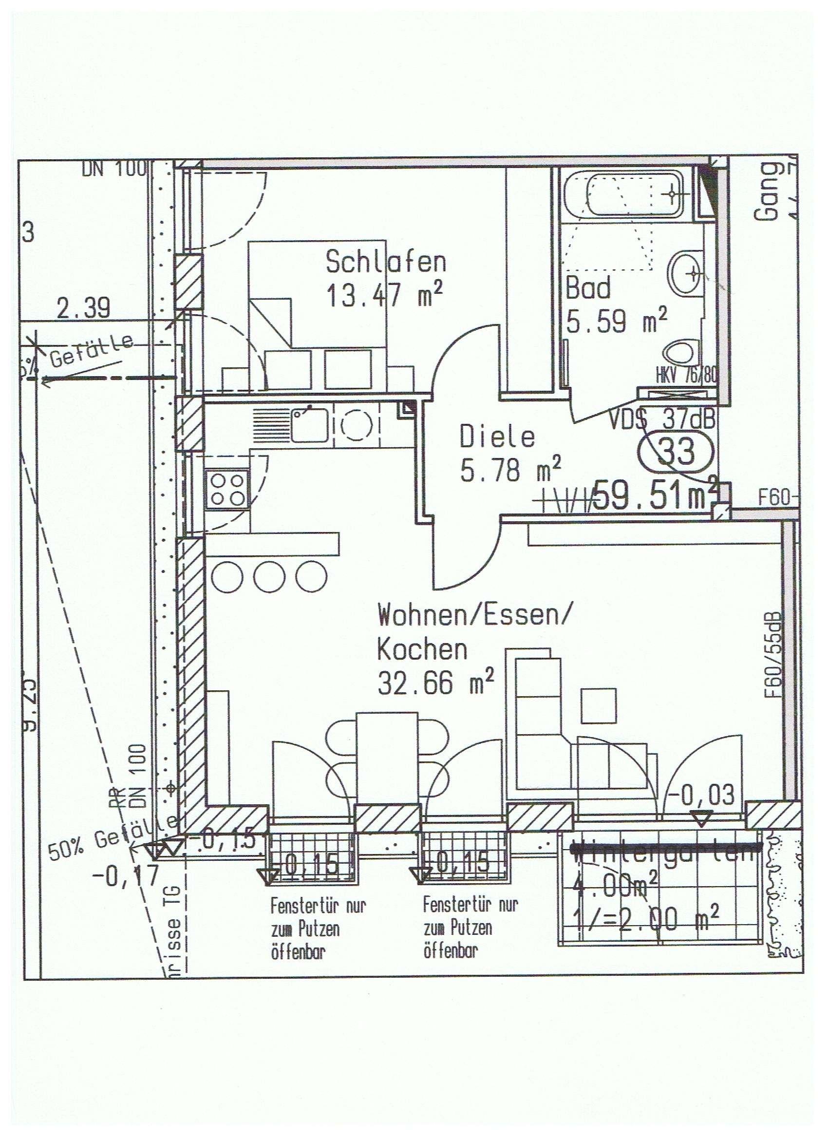 Helle 2-Zimmer  Wohnung in KfW 70 Haus