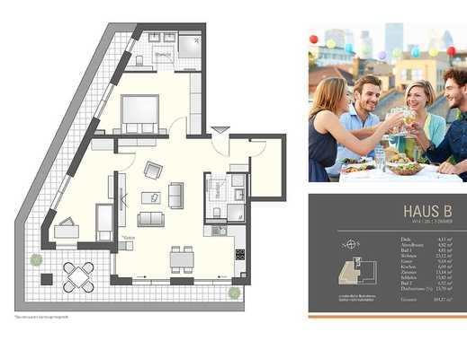 Penthouse mit großer Dachterrasse und Badezimmer en suite! - Haus B/14