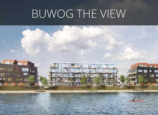 Elegantes Wohnen am Wasser! Hochwertige 2-Zimmer-Wohnung mit ca. 22 m² großem Balkon