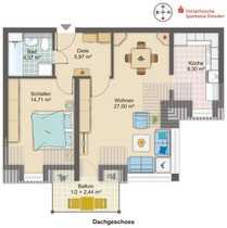 RAR Bezugsfreie 2-Zimmer-DG-Wohnung in Laubegast