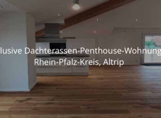 Exklusive Dachterassen-Penthouse-Wohnung in Rhein-Pfalz-Kreis, Altrip