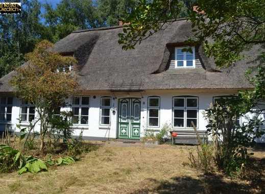 """Verkauf eines Reetdachhauses """"ehemaliges Schulgebäude"""" an der Eider bei Hennstedt, Kreis Dithmarsche"""