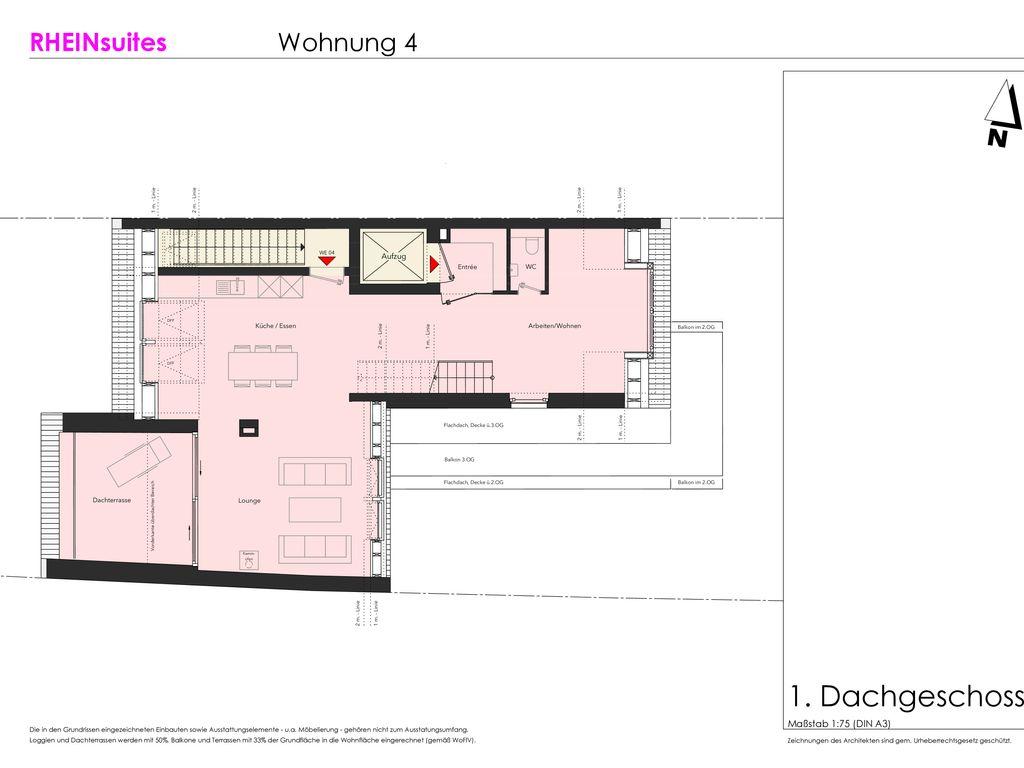 maisonette 4 dachgeschoss. Black Bedroom Furniture Sets. Home Design Ideas