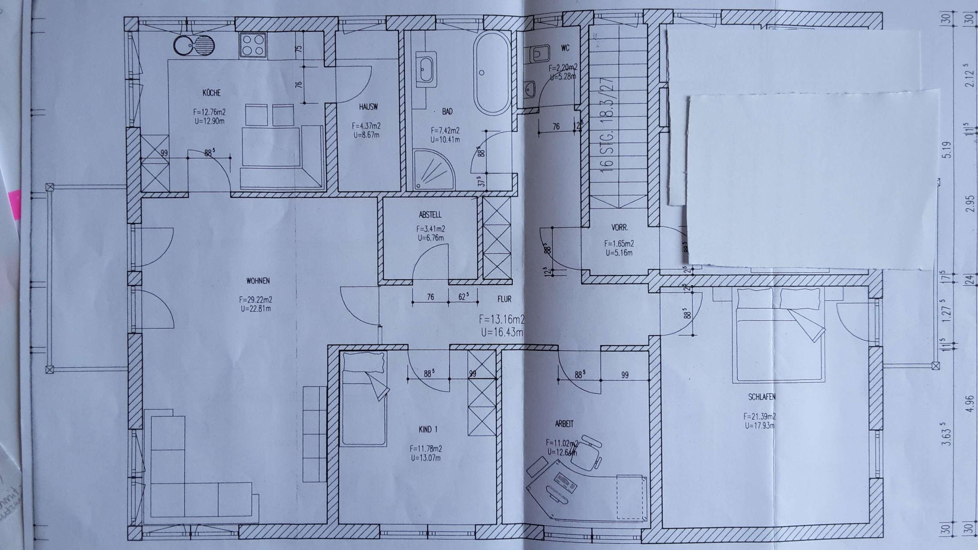 Gepflegte 4-Zimmer-DG-Wohnung mit Balkon und EBK in Seeon-Seebruck in Seeon-Seebruck (Traunstein)
