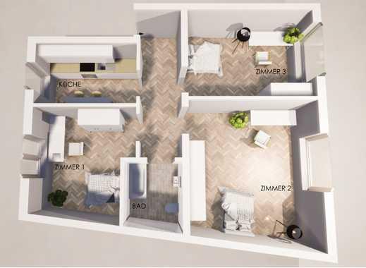 Innenstadt, WG-geeignet, 3,5-Zimmer-Wohnung frisch saniert
