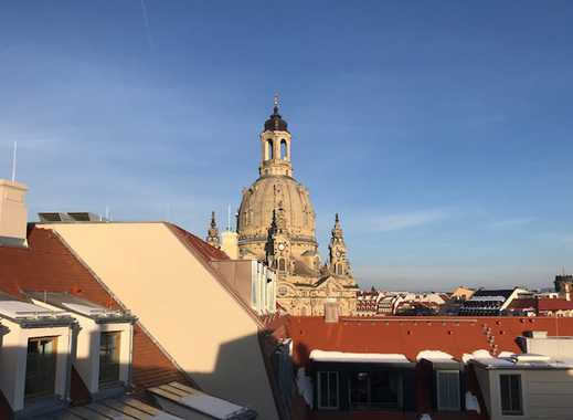 * Dachgeschoss-Wohnung mit zwei Terrassen und Blick zur Frauenkirche *