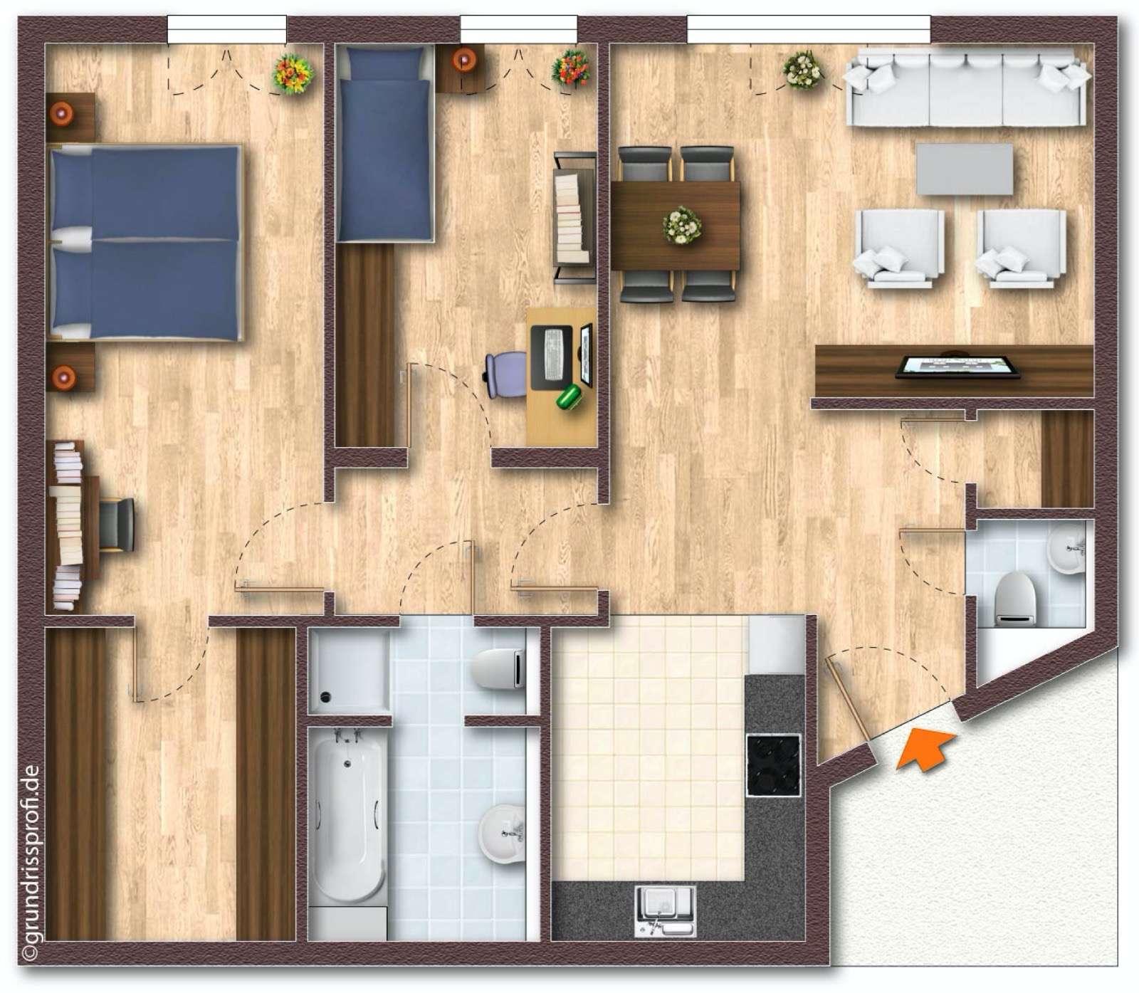 Erstbezug nach Sanierung mit Einbauküche: exklusive 3-Zimmer-Wohnung in Geretsried in Geretsried