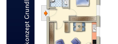 Moderne Dachgeschosswohnung mit Balkon!