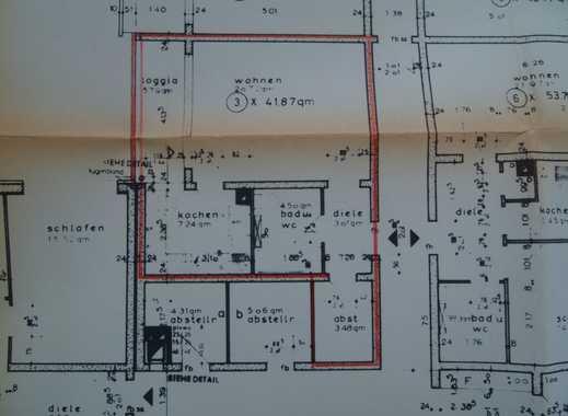 Gepflegte 1,5-Zimmer-Wohnung mit Balkon und Einbauküche in Marburg