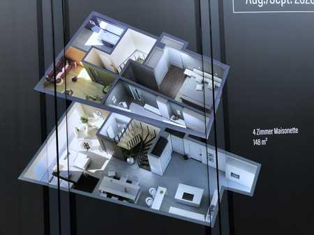 Attraktive 4-Zimmer-Maisonette-Wohnung (148qm) in Marktheidenfeld  mit 2 Balkonen / Erstbezug in Marktheidenfeld
