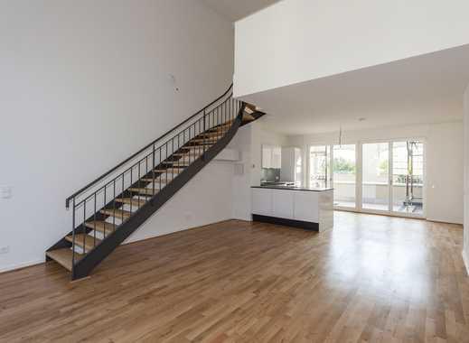 Gohlis: Erstbezug im Loft-Stil! Maisonette mit Terrasse & Balkon, exkl. Einbauküche & Klimaanlage