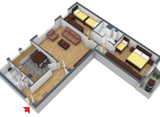 schöne 3-Zi. Wohnung mit Parkettboden und Balkon