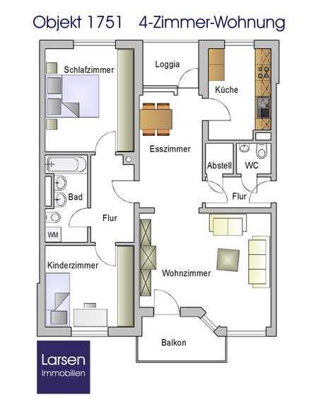 Neurenovierte 4-Zi-Wohnung in Reinhausen - schön möbliert in Reinhausen (Regensburg)