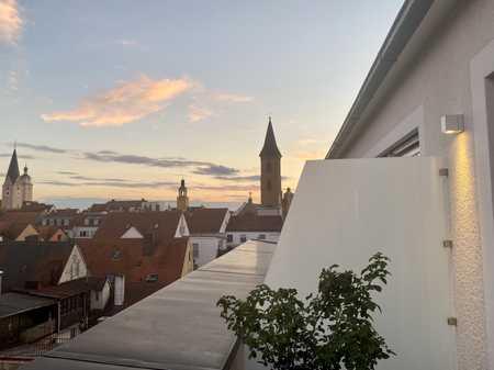 Hochwertige 2-Zimmer-Dachgeschosswohnung mit Balkon und EBK über den Dächern von Ingolstadt in Mitte (Ingolstadt)