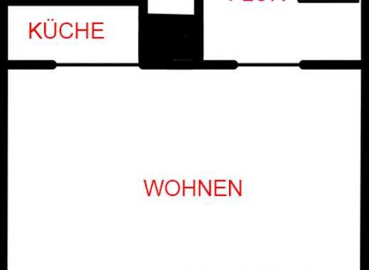 Gepflegte 1-Zimmer-Wohnung mit Balkon und Einbauküche in Erlangen