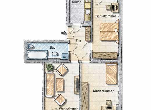 **Charmante Altbauwohnung in zentraler Lage** 3-Zimmer-Wohnung mit 2 Balkon und Wannenbad