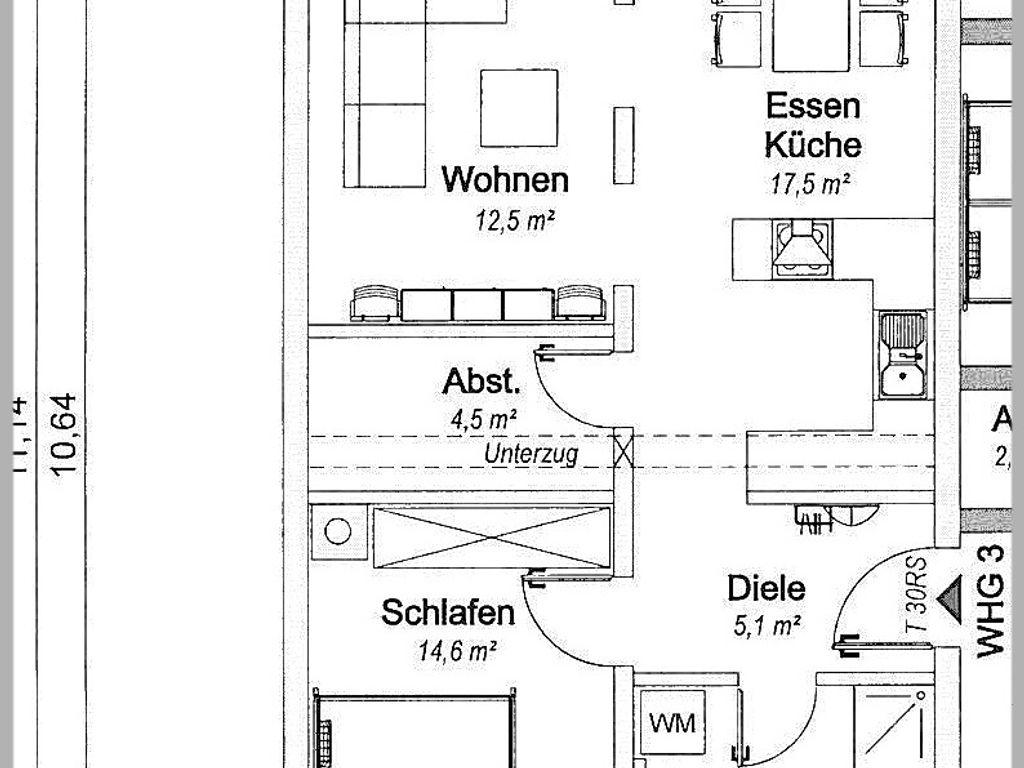 1. OG, Nr. 3, 62,2 m², Balkon