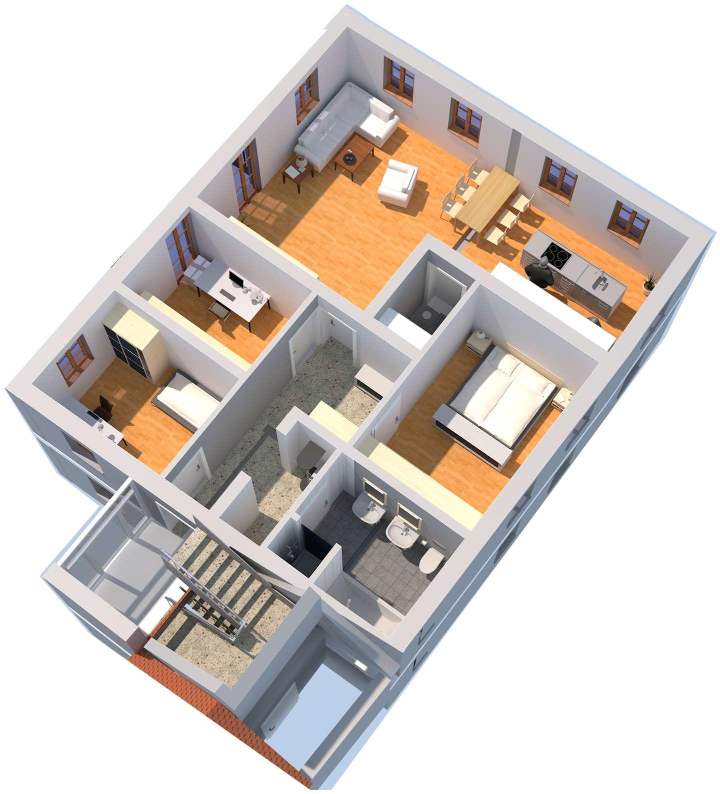 Exklusive, neubau 4-Zimmer-Wohnung mit gehobener Innenausstattung in Wendelstein
