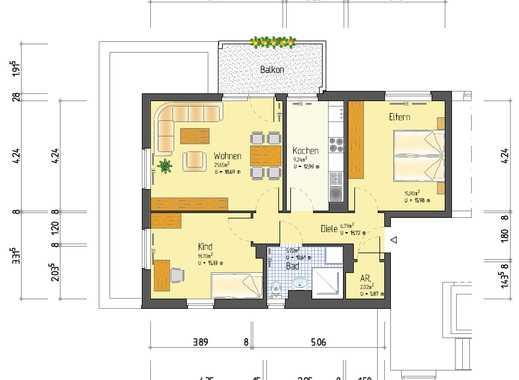 Sonnige 3-Zimmer-Wohnung für Familie mit Kind am Riedberg (Familenförderprogramm)