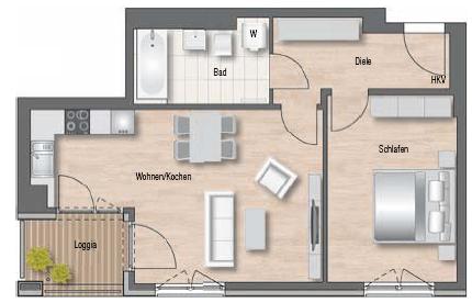 Wunderschöne 2-Zimmer Wohnung mit Loggia in bester Lage! Ruhig, Grün, Verkehrsgünstig in Riem